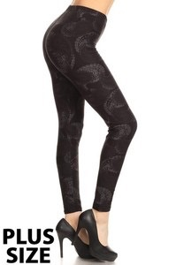 Red Ribbon Tall and Curvy Faded Paisley Legging