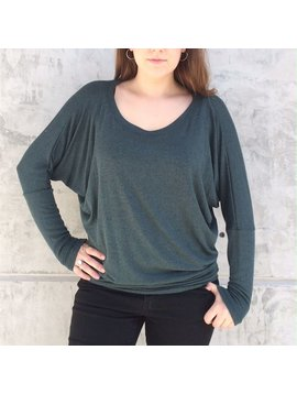 Natural Life Dolman Scoop Top
