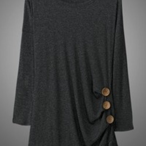 trend:notes Side Button Tunic