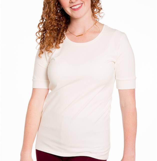 AAAAA Fashion Heirloom Scoop Half Sleeve Top