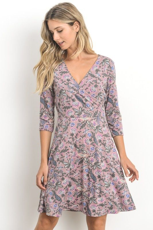Gilli Lillian V Neck Dress