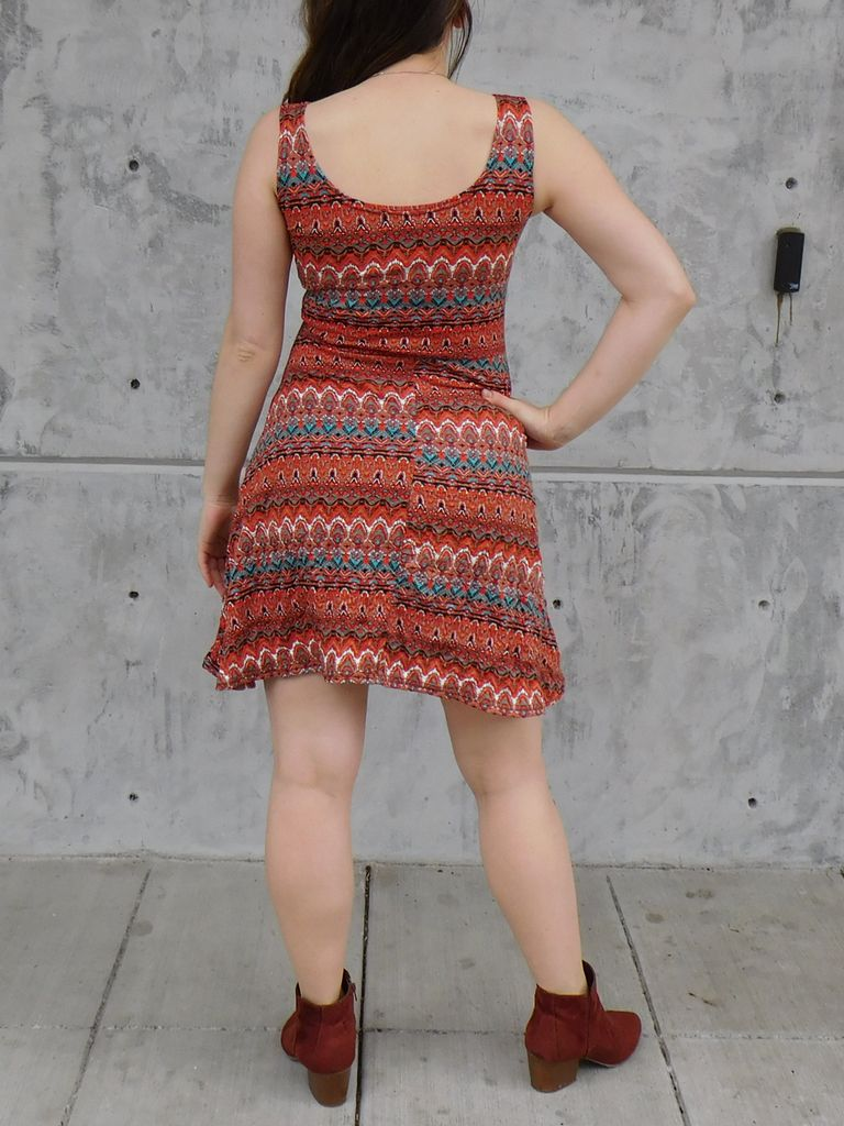 Gypsy Chic Skater Dress, Tribal