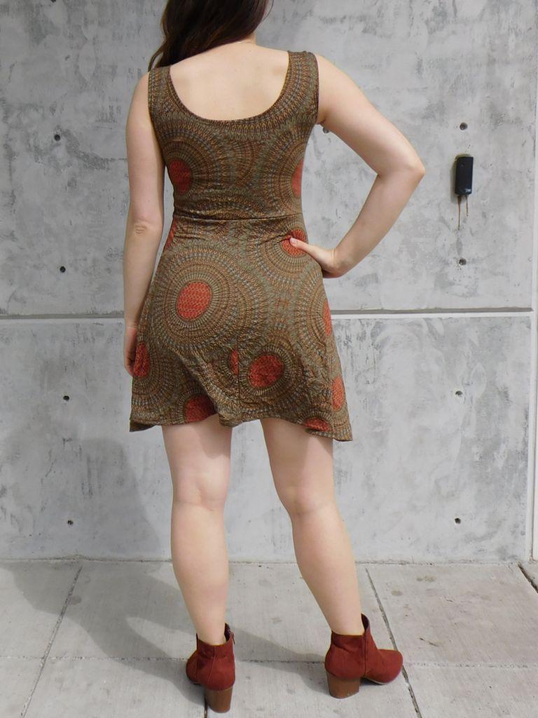 Gypsy Chic Skater Dress, Mandala