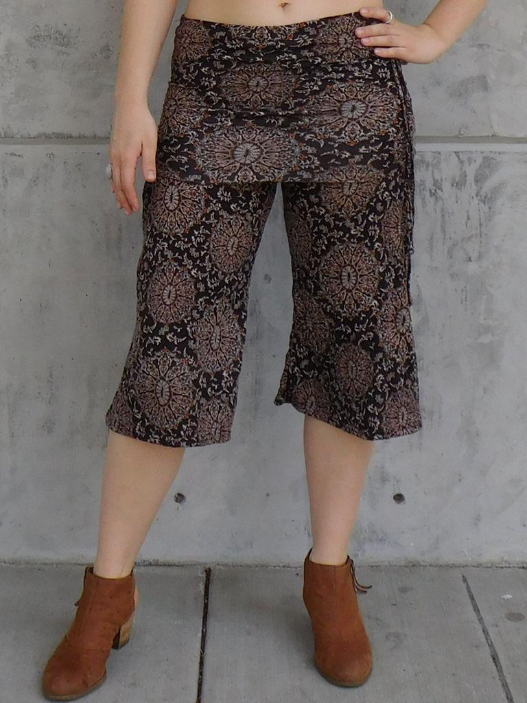 Gypsy Chic Mid Skirt Pant, Sanddollars
