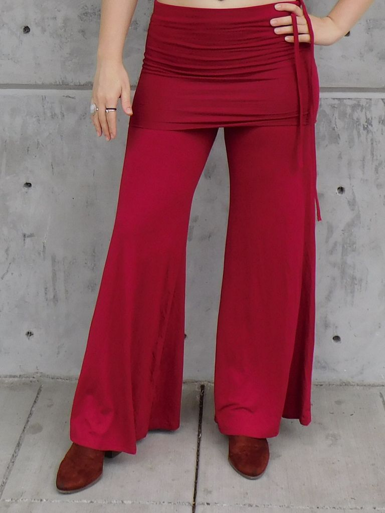 Gypsy Chic Flowy Skirt Pants