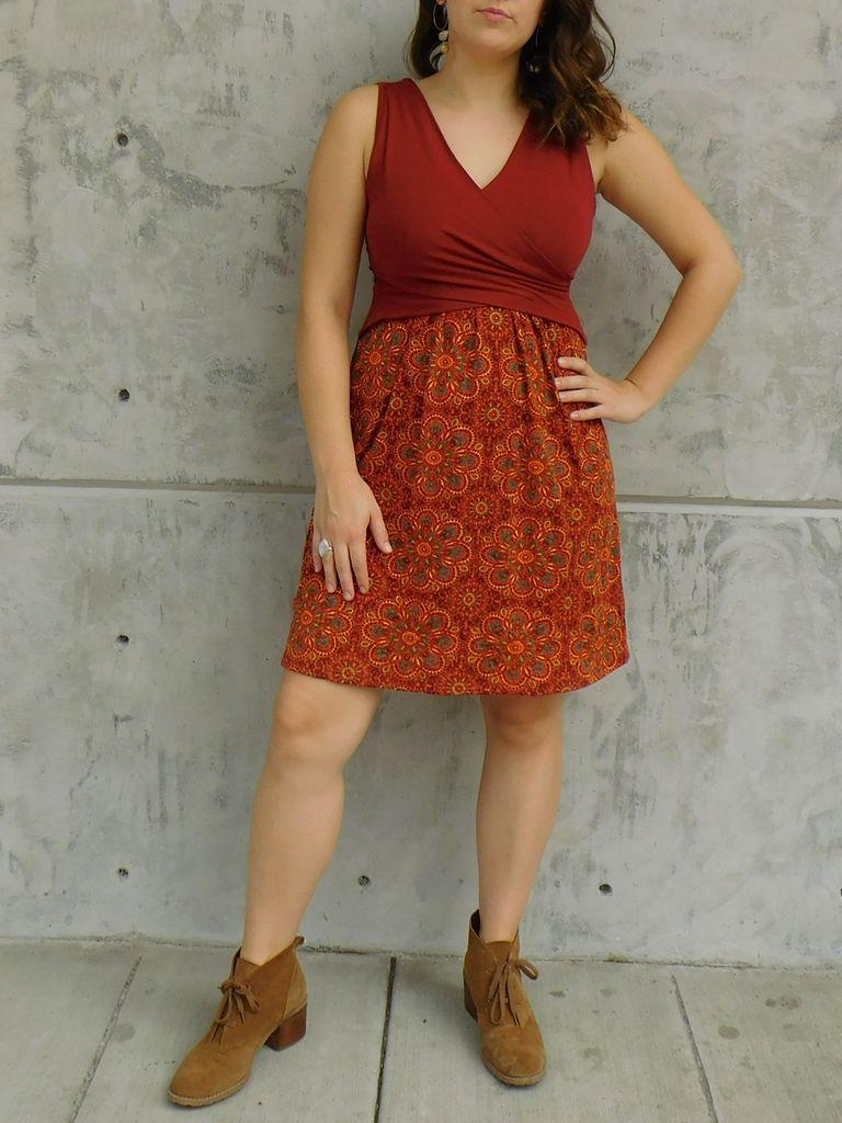 Gypsy Chic Santorini Dress, Flower Tile