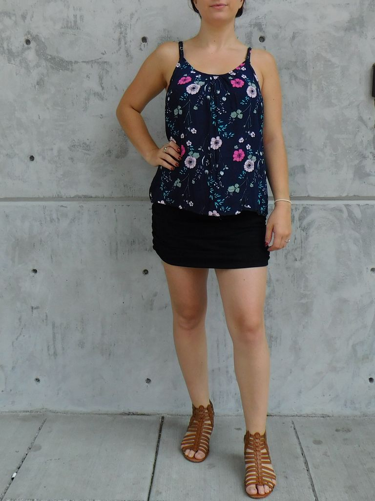 Gypsy Chic Day Dream Cami, Blue Floral Bouquets