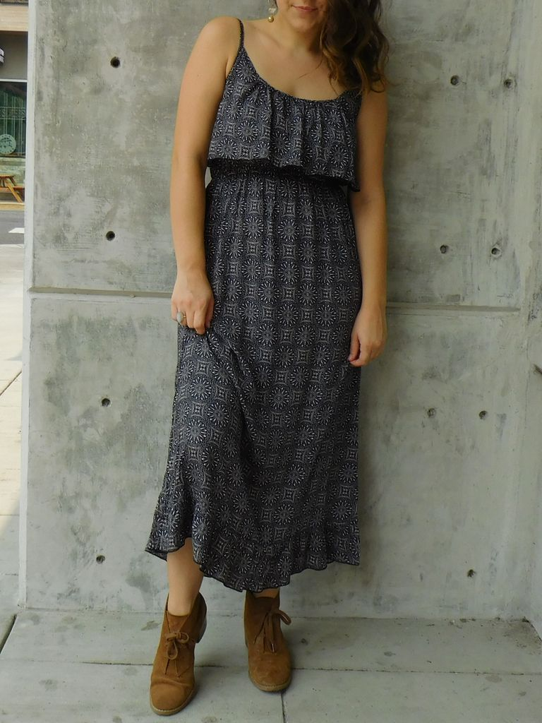 Gypsy Chic Prairie Maxi Dress,Eclipse