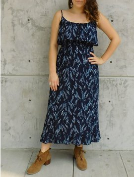 Gypsy Chic Prairie Maxi Dress, Flower Vines