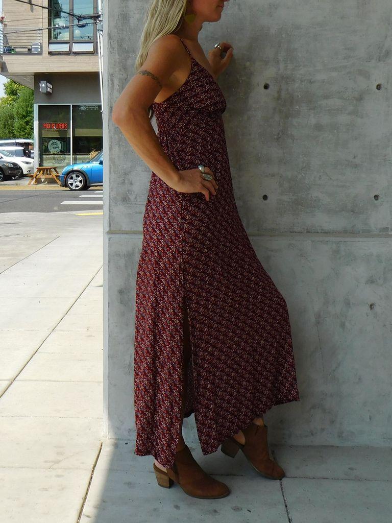 Gypsy Chic Sunset Slip Maxi, Abstract Petals