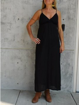 Gypsy Chic Sunset Slip Maxi, Black