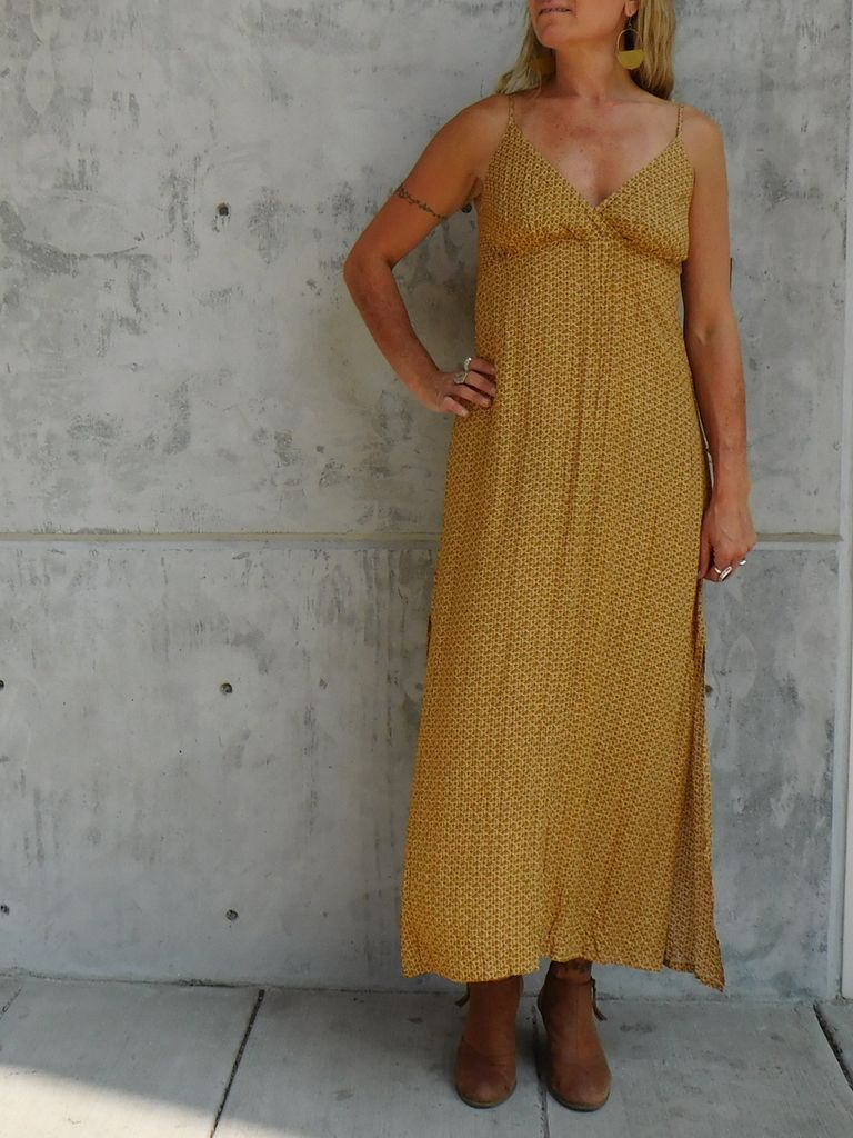 Sunset Slip Maxi, Vintage Garden - Gypsy Chic