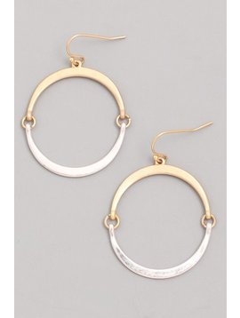 GCB Flat Hoop Silver Earrings
