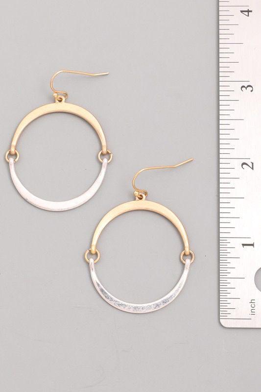 GCB Flat Hoop Silver Earrings