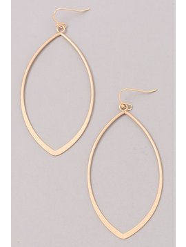 GCB Oval Shaped Gold Earrings