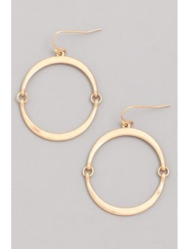 GCB Flat Hoop Gold Earrings