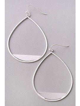 GCB Matte Silver Teardrop Earrings