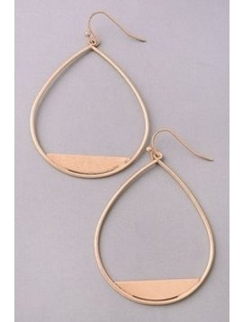 GCB Matte Teardrop Dangle Earrings