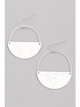 GCB Circumference Silver Matte Earrings