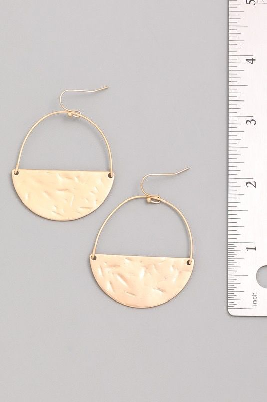 GCB Circumference Silver Matte Earrings