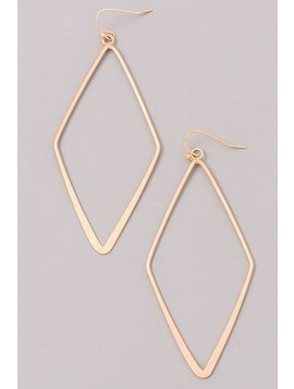 GCB Diamond Shaped Gold Earrings