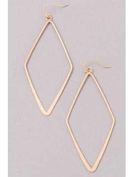 GCB Diamond Shaped Gold Earrings