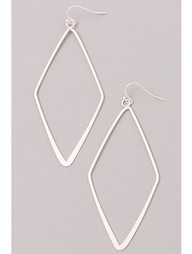 GCB Diamond Shaped Silver Earrings