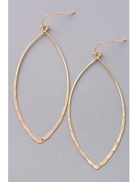 GCB Hammered Cutout Gold Earrings