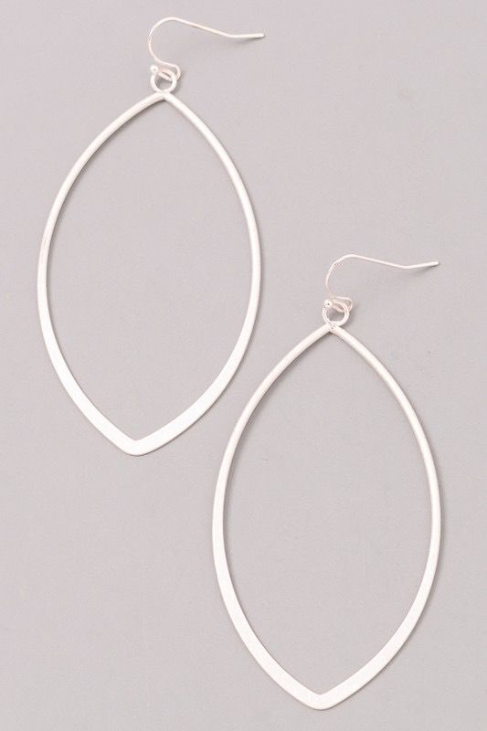 GCB Oval Shaped Silver Earrings