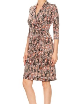 Purple Rain Ikat Bell Wrap Dress