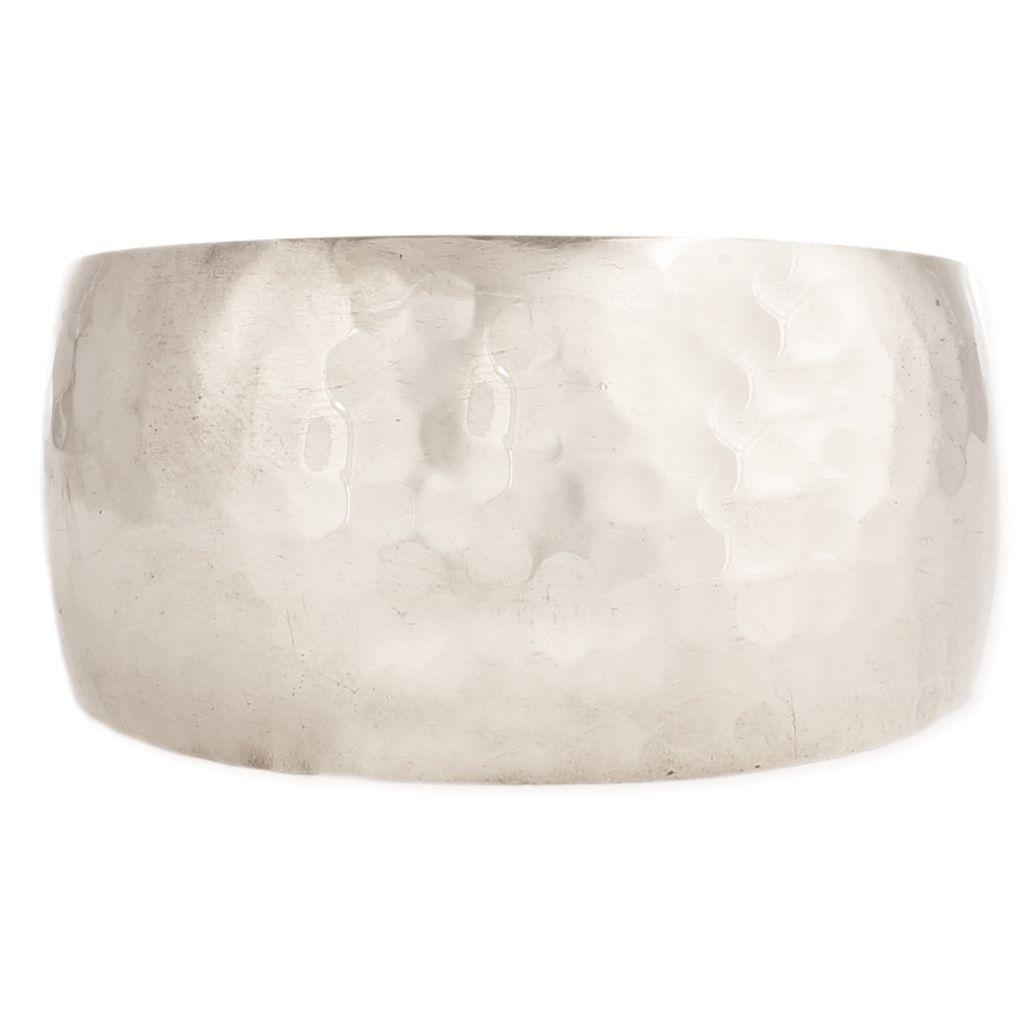 Zad Essential Silver Hammered Cuff