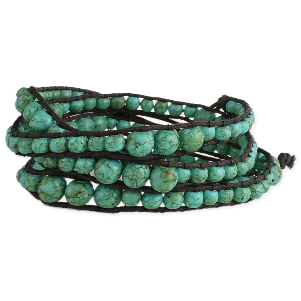 Zad Turquoise Bead Wrap Bracelet