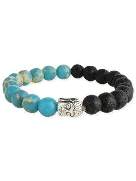 Zad Buddha and Lava Bead Diffuser Bracelet
