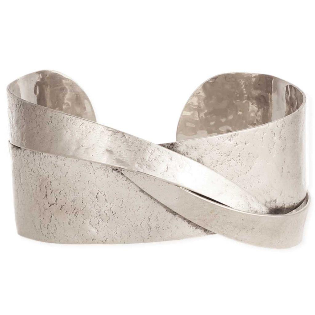 Zad Modern Art Silver Cuff