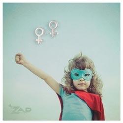 Zad Silver Woman Symbol Post Earrings