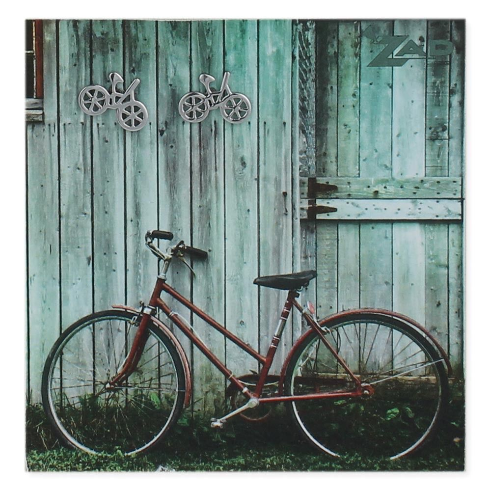 Zad Silver Bicycle Post Earring