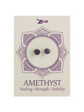 Zad Amethyst Round Post Earring