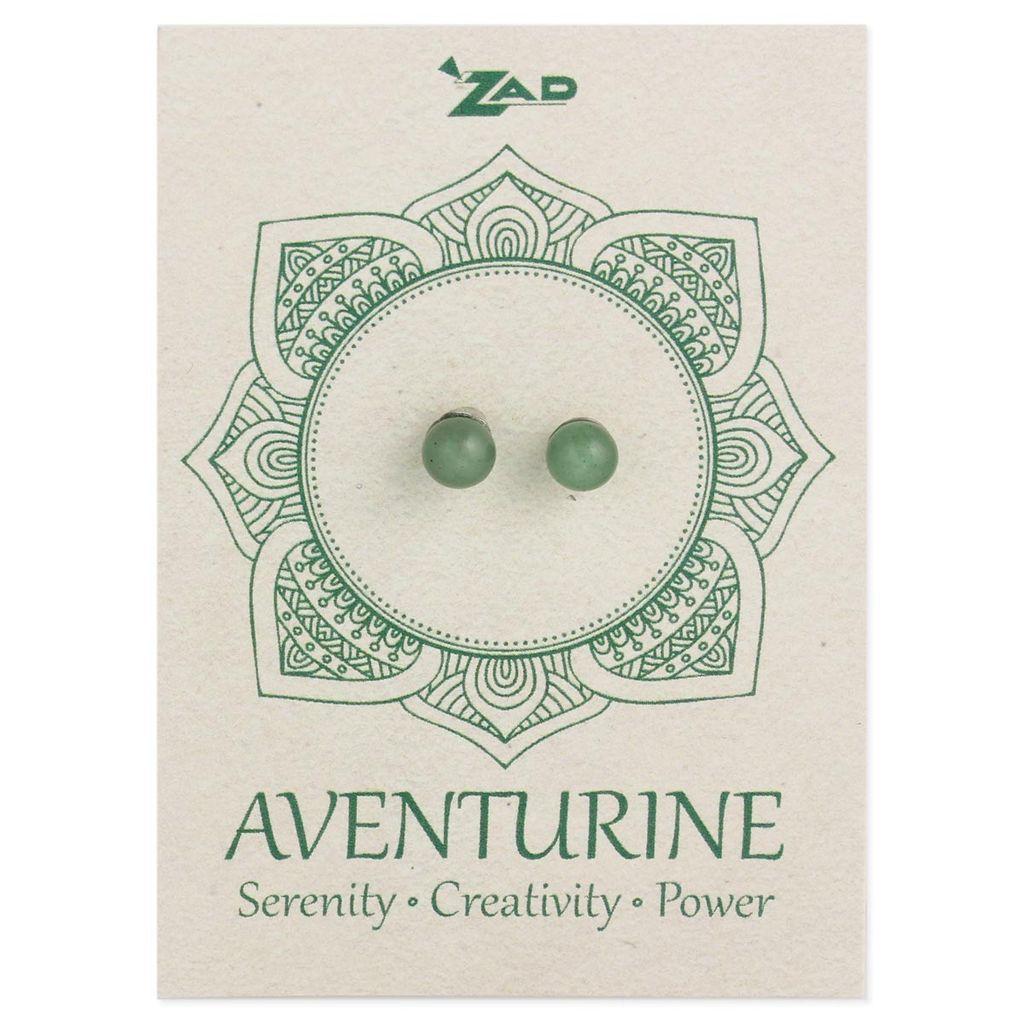 Zad Aventurine Round Post Earring
