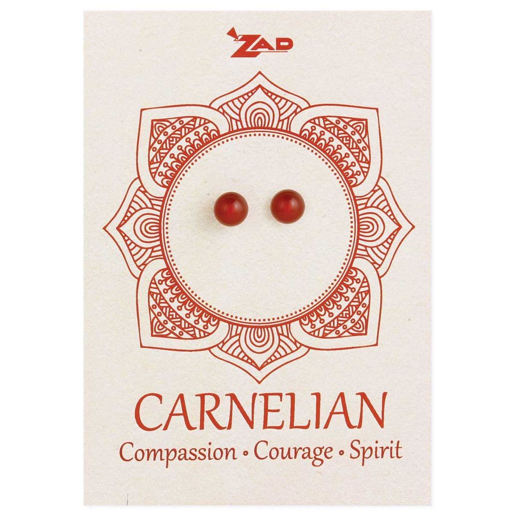 Zad Carnelian Round Post Earring
