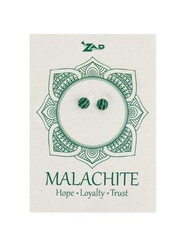 Zad Malachite round Post Earring