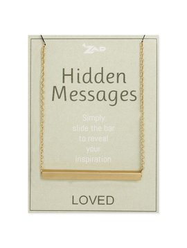 "Gypsy Chic ""Loved"" Hidden Message Gold Plated Necklace"