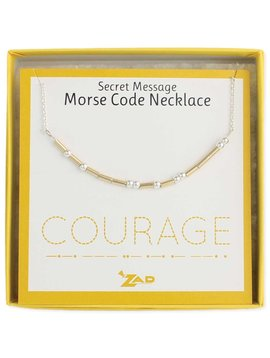 "Gypsy Chic ""Courage"" Morse Code Necklace"