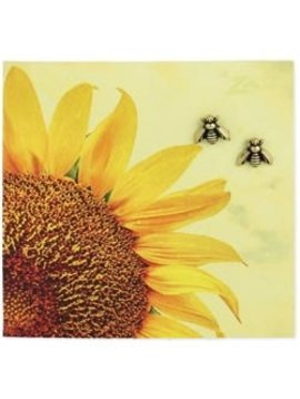 Zad Gold Bee Post Earrings