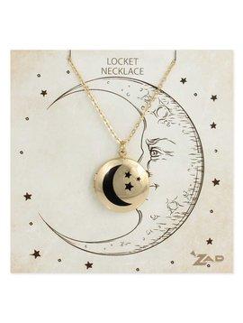 Gypsy Chic Gold Moon Locket