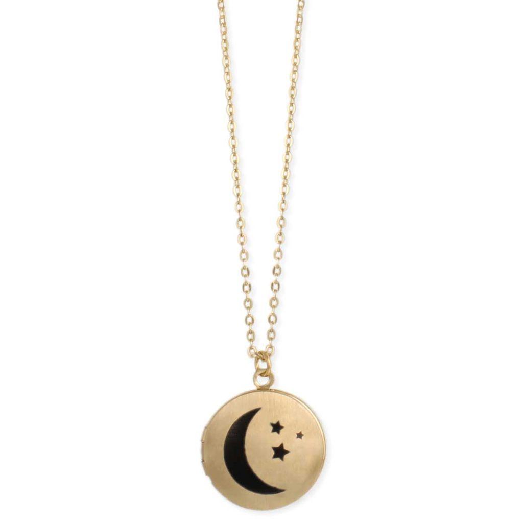 Gypsy Chic Gold Plated Moon Locket