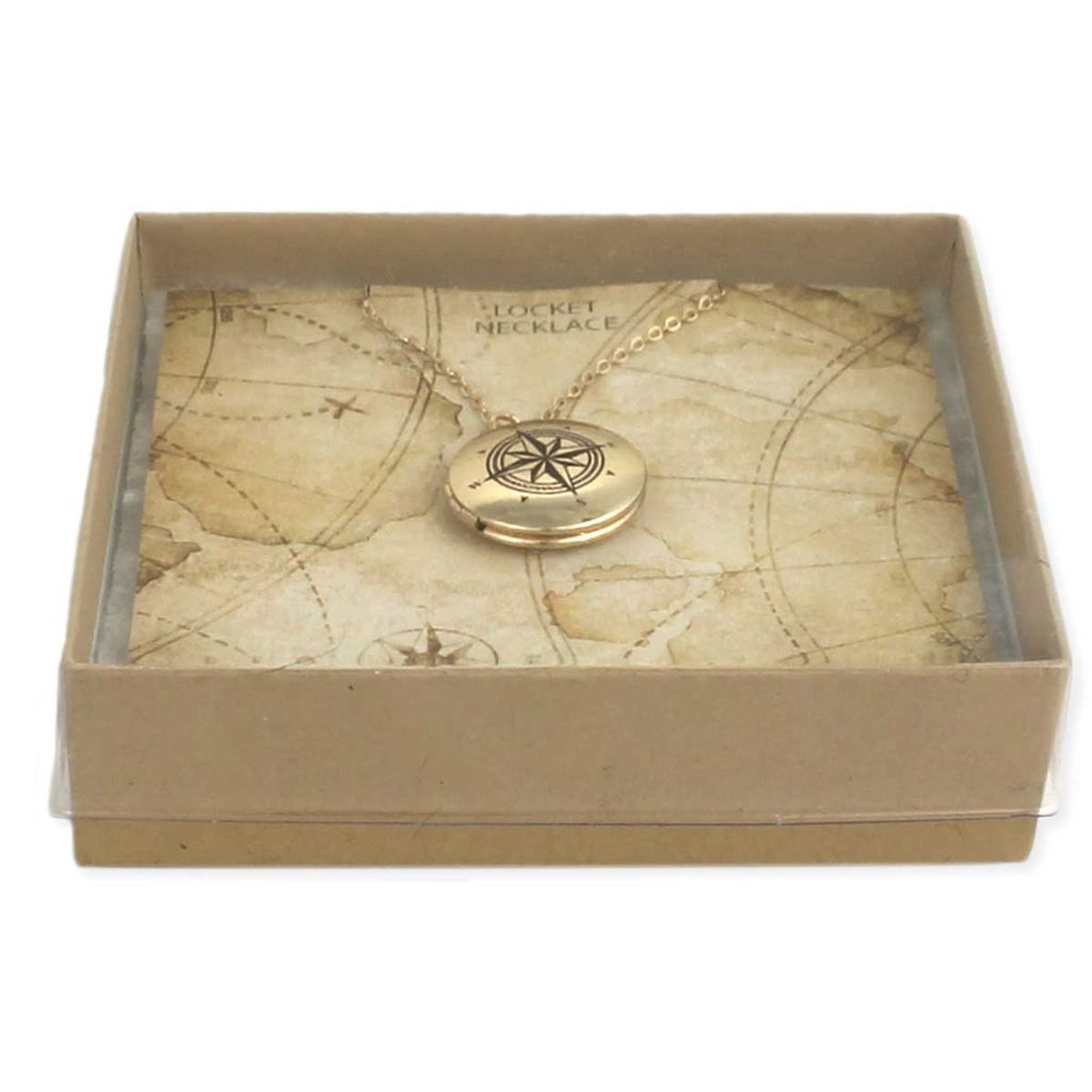 Gypsy Chic Gold Plated Compass Locket