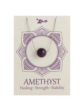 Gypsy Chic Amethyst Bead Silver Necklace