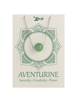 Gypsy Chic Aventurine Bead Silver Necklace