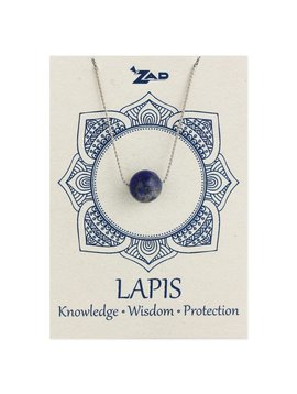 Gypsy Chic Lapis Bead Silver Necklace