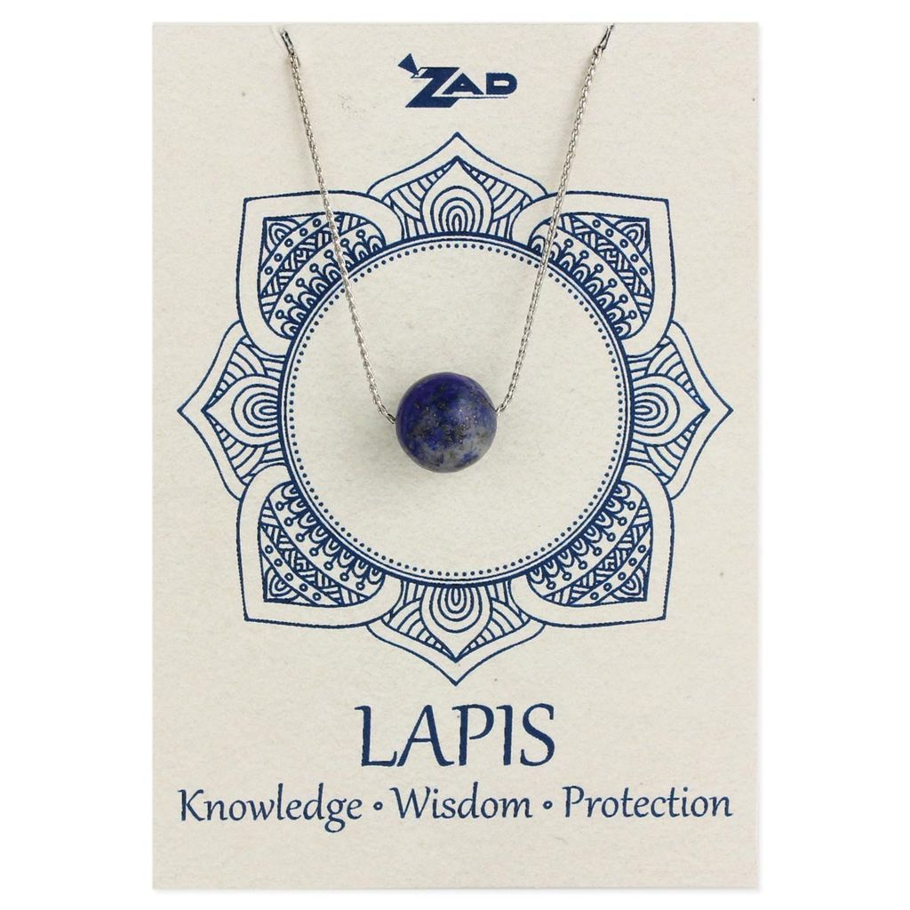 Gypsy Chic Lapis Bead Necklace